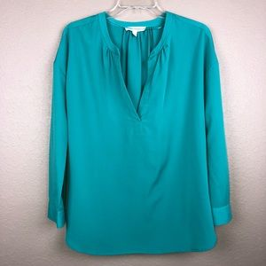 Two by Vince Camuto Green XS Blouse Top